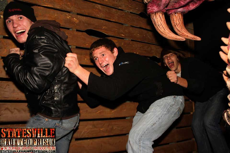 People Getting Scared at Haunted House