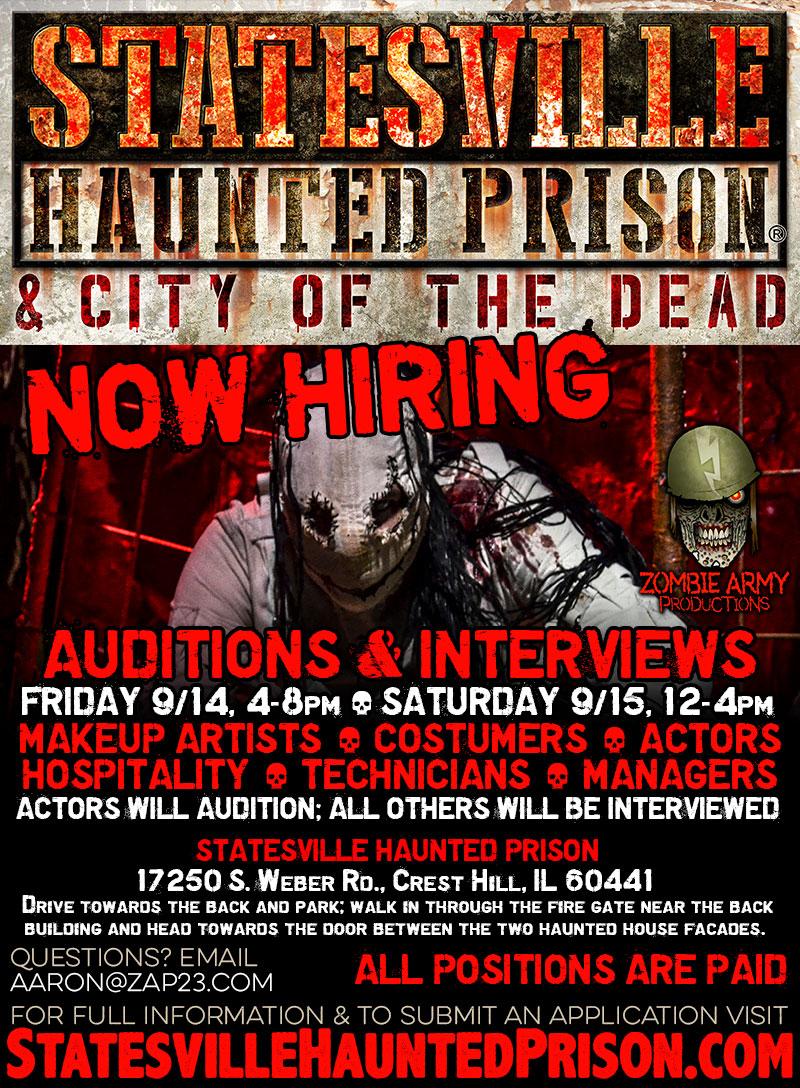 Jobs at Statesville Haunted Prison