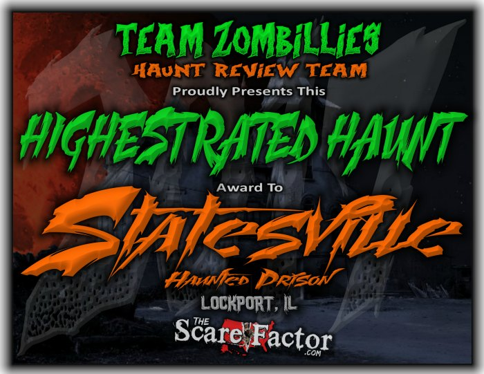 Award for Highest Rated Haunt