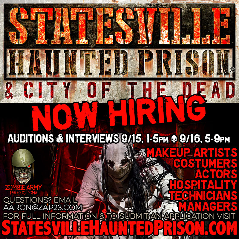 Jobs   Statesville Haunted Prison® and City of the Dead